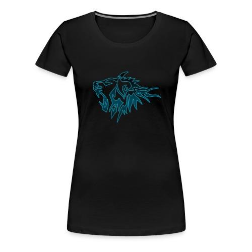 T-Shirt Femme Tigres Bleu (Noir) - T-shirt Premium Femme