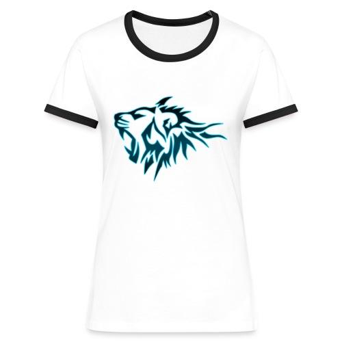 T-Shirt Femme Tigres Bleu (Blanc) - T-shirt contrasté Femme