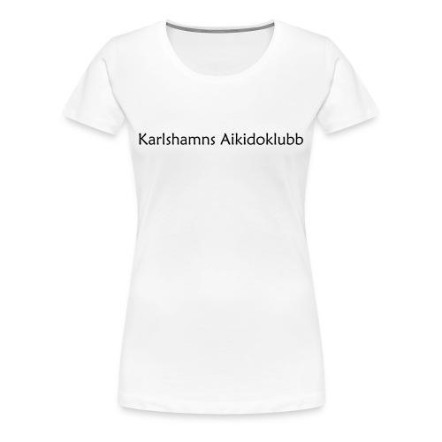 T-shirt i dammodell med logga på ryggen - Premium-T-shirt dam