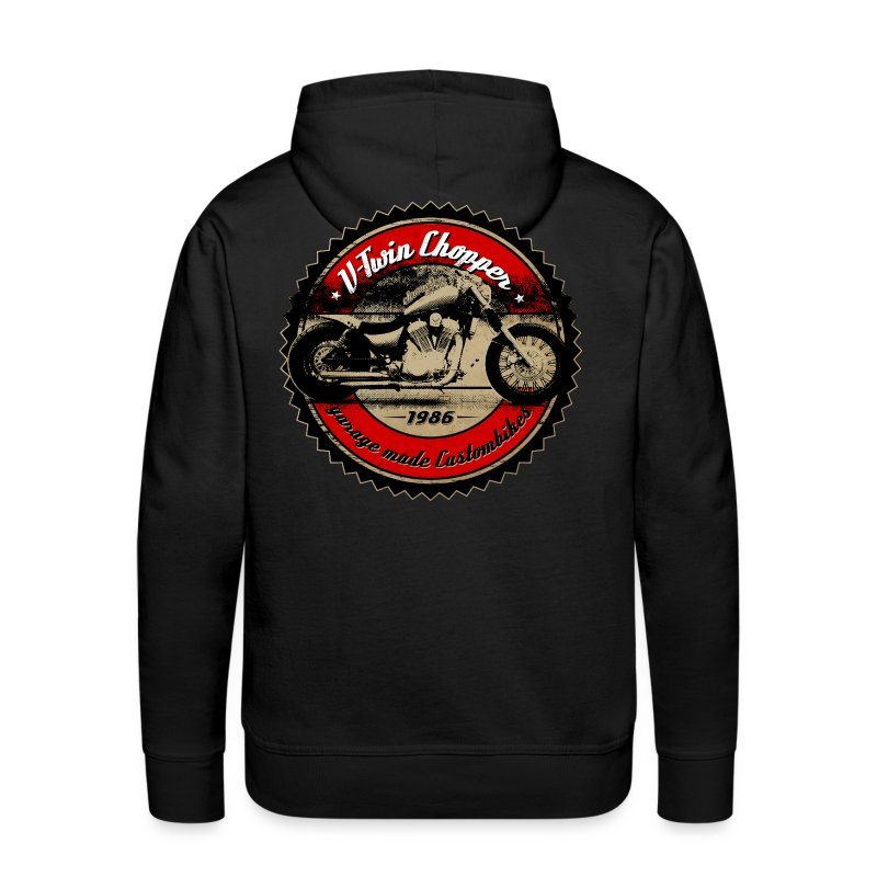 CHROMELESSAPPAREL // V2 CHOPPER VOL.1 BACK - Männer Premium Hoodie