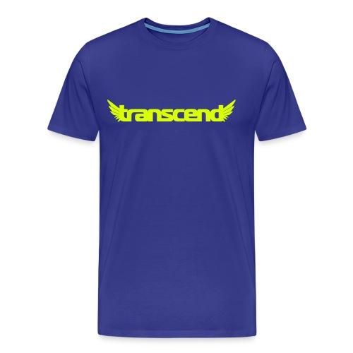 Transcend T-Shirt - Men's - Neon Yellow Print - Men's Premium T-Shirt