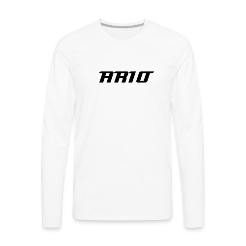 Men's White Long Shirt - Men's Premium Longsleeve Shirt
