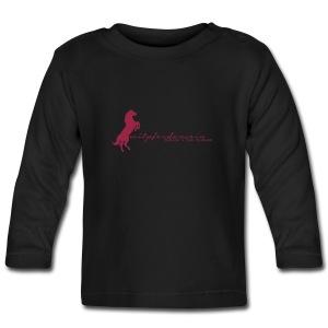 RU Font, Kids Longsleeve ( Print:Crimsonred) - Baby Langarmshirt