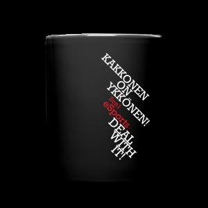 2on1 eSports Muki, musta - Yksivärinen muki