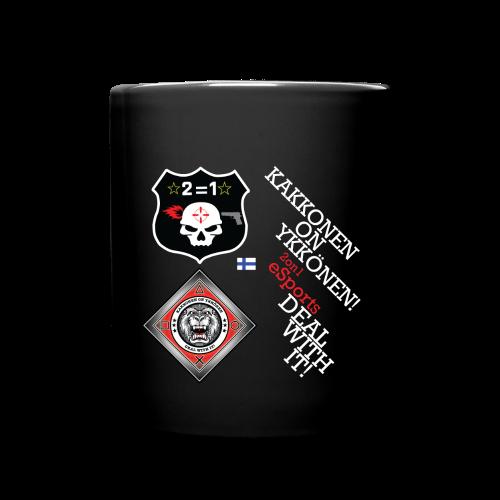 2on1 eSports & ry Muki, musta - Yksivärinen muki