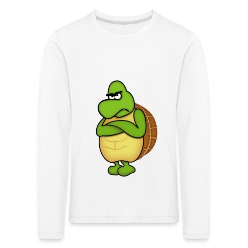 Angry Turtle - Kinder Premium Langarmshirt