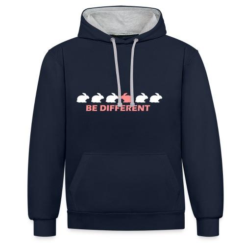 Hoodie be different - Contrast hoodie