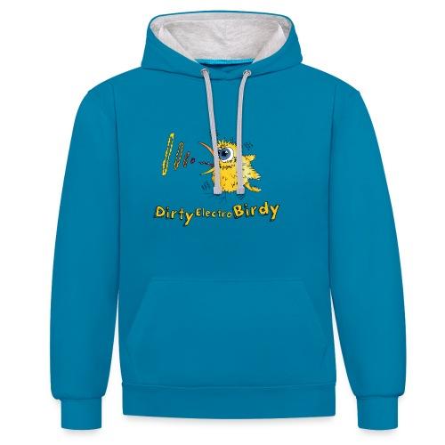 Dirty Electro Birdy Hoodie - Kontrast-Hoodie