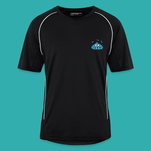 Tee Shirt Homme Sport KKProut Bleu avec Pseudo Blanc - Maillot de football Homme