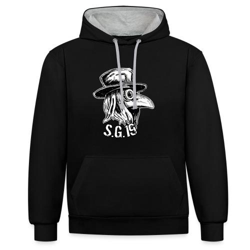 s.g.19 kontrast hoodie - Kontrast-Hoodie