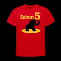 5. Geburtstag - Schon 5 Elefant Kinder T-Shirt