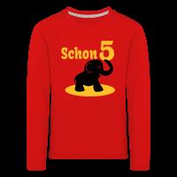 5. Geburtstag - Schon 5 Elefant Kinder Langarm-Shirt