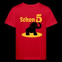 5. Geburtstag - Schon 5 Elefant Kinder Bio T-Shirt