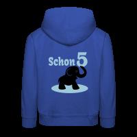 5. Geburtstag - Schon 5 Elefant Kinder Kapuzenpullover