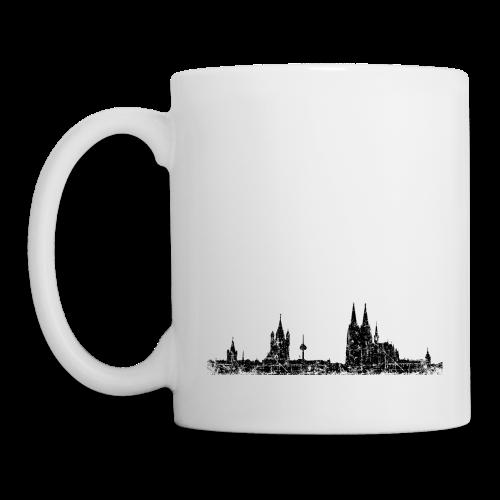 Köln Skyline (Vintage Schwarz) Tasse - Tasse