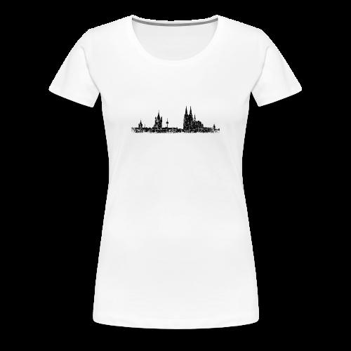 Köln Skyline (Vintage Schwarz) S-3XL T-Shirt - Frauen Premium T-Shirt
