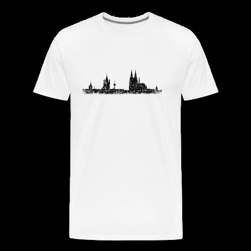 Köln Skyline (Vintage Schwarz) S-5XL T-Shirt - Männer Premium T-Shirt