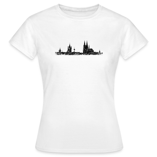Köln Skyline (Vintage Schwarz) T-Shirt - Frauen T-Shirt