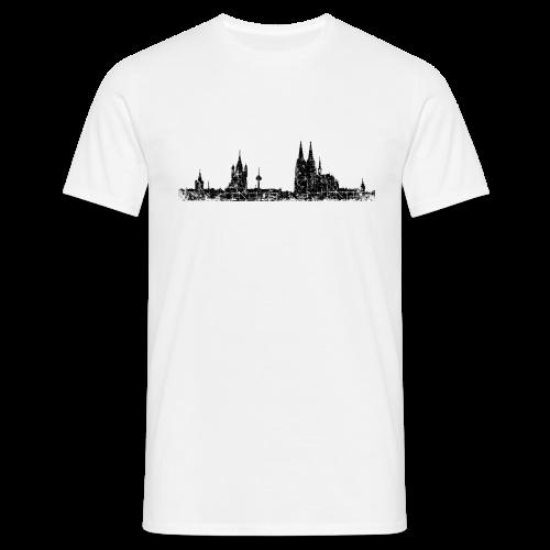 Köln Skyline (Vintage Schwarz) T-Shirt - Männer T-Shirt