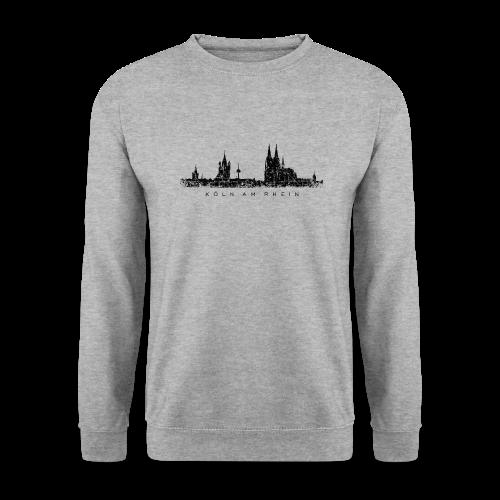 Köln am Rhein Skyline (Vintage Schwarz) Pullover - Männer Pullover