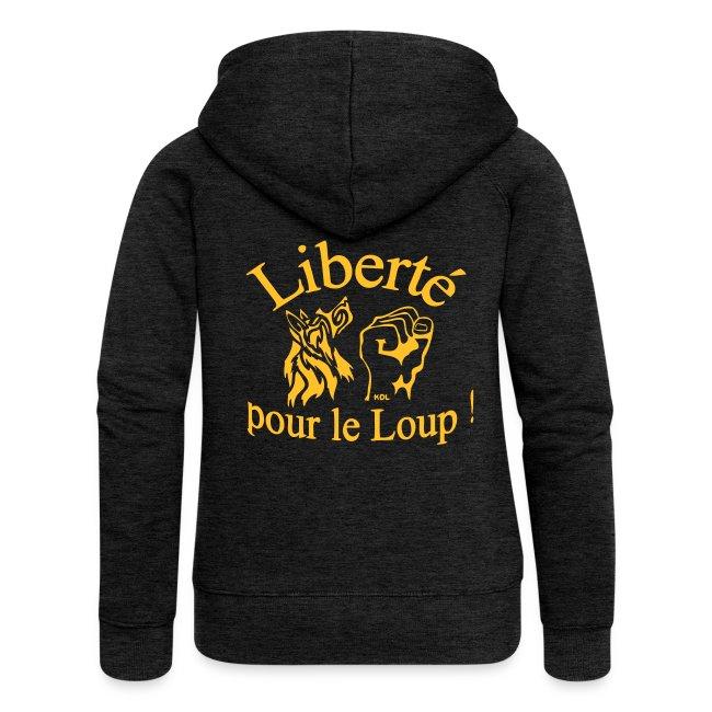 """Veste à capuche Femme/homme """"Liberté pour le Loup !"""""""