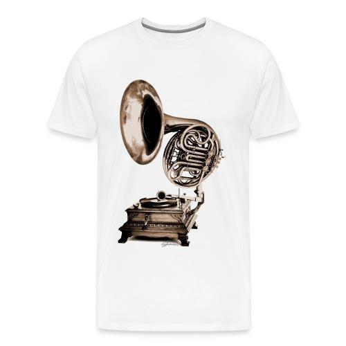 Grammo-Horn - Männer Premium T-Shirt