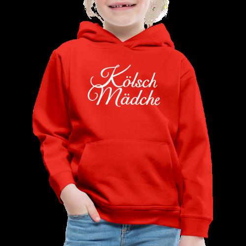 Kölsch Mädche Classic (Weiß) Kinder Hoodie - Kinder Premium Hoodie