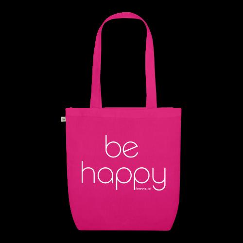 be happy - Bio Stoffbeutel - Bio-Stoffbeutel