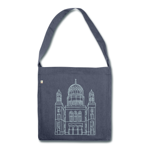 Neue Synagoge Berlin - Schultertasche aus Recycling-Material