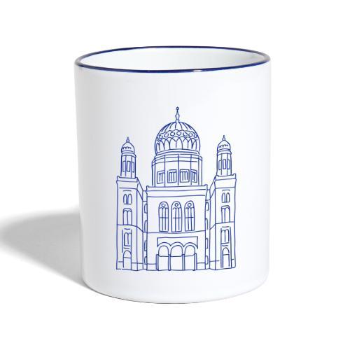 Neue Synagoge Berlin - Tasse zweifarbig