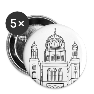 Neue Synagoge Berlin - Buttons groß 56 mm