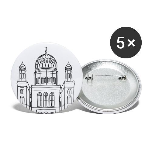 Neue Synagoge Berlin - Buttons groß 56 mm (5er Pack)