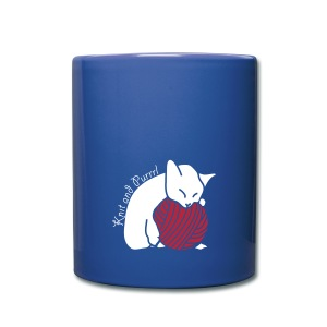 Full Colour Mug - katzen,stricken,wolle