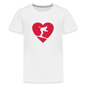 I love Skiing Skifahrer Teenager T-Shirt - Teenager Premium T-Shirt