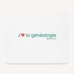 Tapis de souris - J'aime la généalogie - Tapis de souris (format paysage)