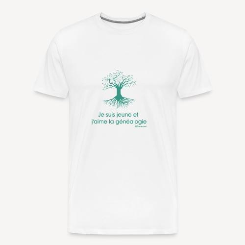 T-shirt qualité supérieure homme - Je suis jeune et j'aime la généalogie - T-shirt Premium Homme