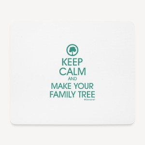 Tapis de souris - Keep calm and make your family tree - Tapis de souris (format paysage)