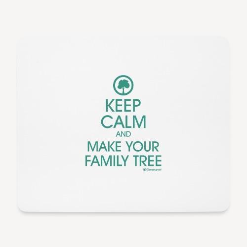 Tapis de souris - Keep calm and make your family tree - Tapis de souris (format paysage)
