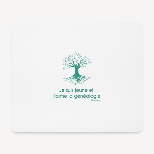 Tapis de souris - Je suis jeune et j'aime la généalogie - Tapis de souris (format paysage)