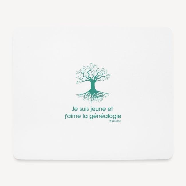 Tapis de souris - Je suis jeune et j'aime la généalogie