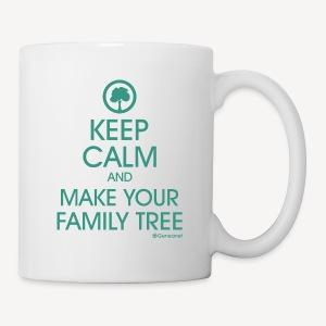 Mug - Keep calm and make your family tree - Mug blanc