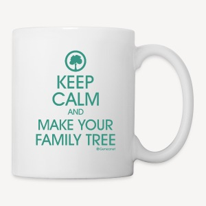 Mug - Keep calm and make your family tree - Tasse