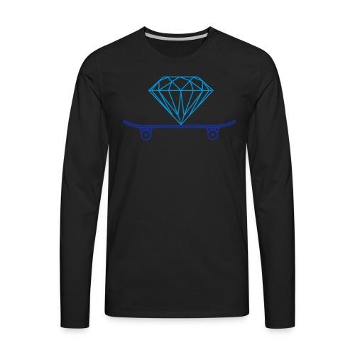 men's long sleeve shirt with diamond skater logo - Men's Premium Longsleeve Shirt