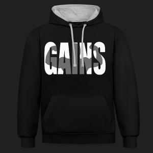 GAINS  - Contrast Colour Hoodie