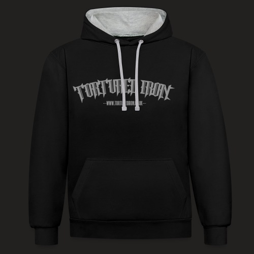 TORTURED IRON LOGO TEXT - Contrast Colour Hoodie
