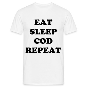 EAT SLEEP COD REPEAT - Männer T-Shirt