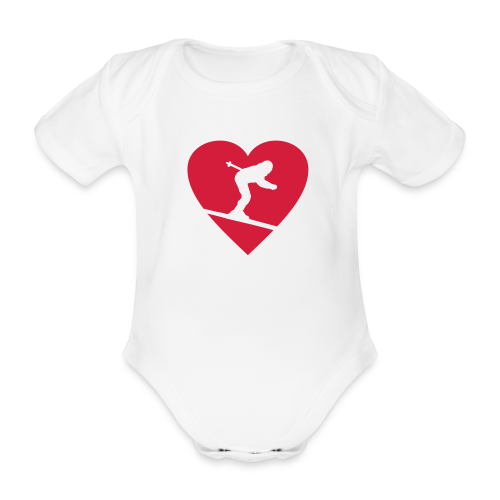 I love Skiing Babybody - Baby Bio-Kurzarm-Body