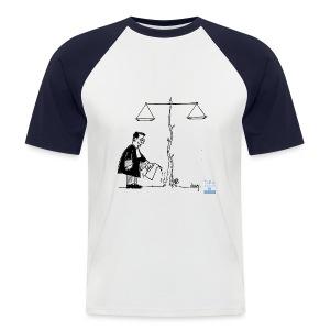 La Justice ne grandit pas seule... - T-shirt baseball manches courtes Homme