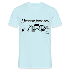 I Survived Javascript - Men's T-Shirt