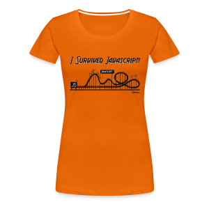 I Survived Javascript (Women) - Women's Premium T-Shirt